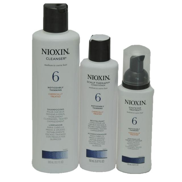 Nioxin System 6 Trio Shampoo Conditioner Treatment